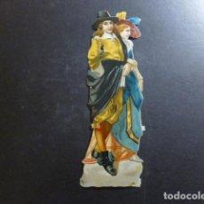 Coleccionismo Cromos troquelados antiguos: PAREJA ELEGANTE CROMO TROQUELADO SIGLO XIX. Lote 234517805