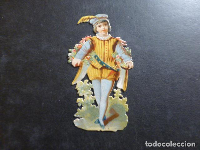 PAJE CROMO TROQUELADO SIGLO XIX (Coleccionismo - Cromos y Álbumes - Cromos Troquelados)