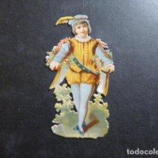 Coleccionismo Cromos troquelados antiguos: PAJE CROMO TROQUELADO SIGLO XIX. Lote 234519180