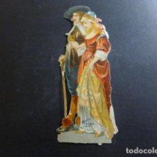 Coleccionismo Cromos troquelados antiguos: PAREJA ELEGANTE CROMO TROQUELADO SIGLO XIX. Lote 234519885