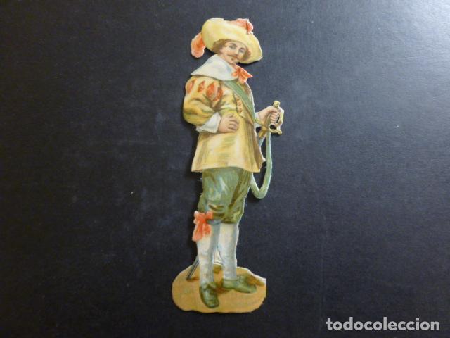 CABALLERO CROMO TROQUELADO SIGLO XIX (Coleccionismo - Cromos y Álbumes - Cromos Troquelados)