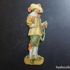 Coleccionismo Cromos troquelados antiguos: CABALLERO CROMO TROQUELADO SIGLO XIX. Lote 234520915