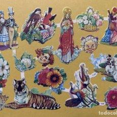 Coleccionismo Cromos troquelados antiguos: LAMINA CROMOS TROQUELADOS O PICAR EVA Nº139 BRILLO. Lote 237205660