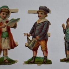 Coleccionismo Cromos troquelados antiguos: 3 CROMOS TROQUELADOS / NIÑOS. Lote 240107435