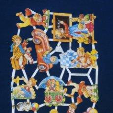 Coleccionismo Cromos troquelados antiguos: LAMINA CROMOS TROQUELADOS EF- 7011.. RELIEVE Y BRILLO. Lote 240725125