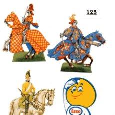 Coleccionismo Cromos troquelados antiguos: 8 CROMOS TROQUELADOS LOTE 125 MILITAR Y GASOLINA. Lote 243426305