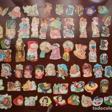 Coleccionismo Cromos troquelados antiguos: MAGNÍFICO LOTE DE 68 CROMOS ORIGINALES ANTIGUOS DE EVA Y FHER DE LOS AÑOS 60 Y 70.. Lote 243865045