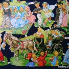 Coleccionismo Cromos troquelados antiguos: LAMINA CROMOS TROQUELADOS EF- 7148. BODAS. RELIEVE Y BRILLO. Lote 243906275