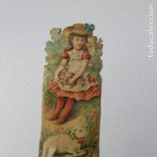 Coleccionismo Cromos troquelados antiguos: CROMO TROQUELADO CHOCOLATES AMATLLER, NIÑA Y CORDERO. Lote 245720950