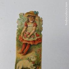 Coleccionismo Cromos troquelados antiguos: CROMO TROQUELADO CHOCOLATES AMATLLER, NIÑA Y CORDERO 2. Lote 245721150