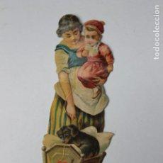 Coleccionismo Cromos troquelados antiguos: CROMO TROQUELADO CHOCOLATES AMATLLER, NANI CON CUNA Y PERRO. Lote 245721585
