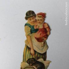 Coleccionismo Cromos troquelados antiguos: CROMO TROQUELADO CHOCOLATES AMATLLER, NANI CON CUNA Y PERRO 2. Lote 245721725