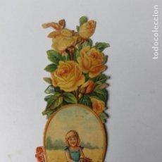 Coleccionismo Cromos troquelados antiguos: CROMO TROQUELADO CHOCOLATES AMATLLER, NIÑA CON FLORES NUMERADO. Lote 245722160