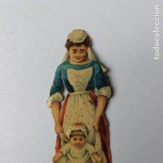 Coleccionismo Cromos troquelados antiguos: CROMO TROQUELADO CHOCOLATES AMATLLER, NANI CON NIÑA. Lote 245722305