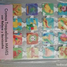 Colecionismo Cromos recortados antigos: LAMINA CROMOS TROQUELADOS PACK DE 12 LAMINAS ESPAÑOLAS EDITORIAL MAVES SERIE 3¡¡OFERTA¡¡. Lote 261990660