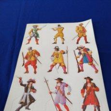 Coleccionismo Cromos troquelados antiguos: LAMINA DE CROMOS TROQUELADOS. Lote 248557430