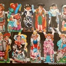 Coleccionismo Cromos troquelados antiguos: LAMINA CROMOS TROQUELADOS - EVA NO. 151 (11 CROMOS ESPAÑOLES DE PICAR) CON BRILLO (DIFICILES). Lote 249483545
