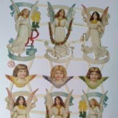 Coleccionismo Cromos troquelados antiguos: GIN. LÁMINA DE CROMOS TROQUELADOS ALEMANES EF 7332 - ÁNGELES QUERUBINES. Lote 252068485