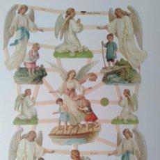 Coleccionismo Cromos troquelados antiguos: GIN. LÁMINA DE CROMOS TROQUELADOS ALEMANES EF 7363 - ÁNGELES. Lote 252068860