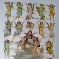 Coleccionismo Cromos troquelados antiguos: GIN. LÁMINA DE CROMOS TROQUELADOS ALEMANES EF 7370 - ÁNGELES. Lote 252069365