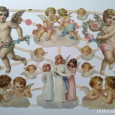 Coleccionismo Cromos troquelados antiguos: GIN. LÁMINA DE CROMOS TROQUELADOS ALEMANES EF 7387 - ÁNGELES. Lote 252069515