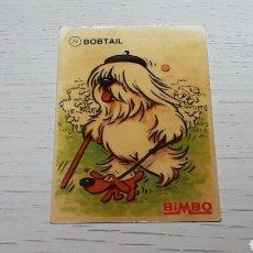 Coleccionismo Cromos troquelados antiguos: CROMO # 24 *BOBTAIL* TUS MEJORES AMIGOS, PROMOCIONAL PREMIUM BIMBO. AÑOS 80-90.. Lote 254013060
