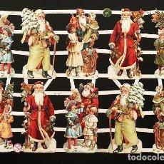 Coleccionismo Cromos troquelados antiguos: RR. LAMINA DE CROMOS TROQUELADOS CON BRILLO Y RELIEVE EF - 7313 - PAPA NOEL. Lote 254059815