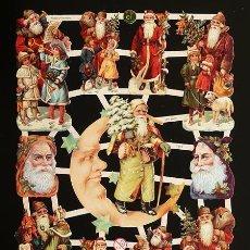 Coleccionismo Cromos troquelados antiguos: RR. LAMINA DE CROMOS TROQUELADOS CON BRILLO Y RELIEVE EF - 7314 - PAPA NOEL. Lote 254059845