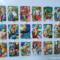 Collectionnisme Cartes à collectionner massicotées anciennes: LÁMINA DE CROMOS TROQUELADOS ESPAÑOLES GRÁFICAS LOROÑO AÑOS 70 SERIE CUENTOS. Lote 260849270