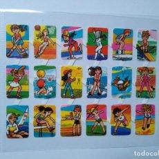 Collectionnisme Cartes à collectionner massicotées anciennes: LÁMINA DE CROMOS TROQUELADOS ESPAÑOLES GRÁFICAS LOROÑO AÑOS 70 SERIE DEPORTES. Lote 260850955