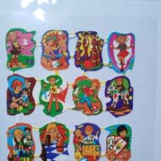Collectionnisme Cartes à collectionner massicotées anciennes: LÁMINA DE CROMOS TROQUELADOS ESPAÑOLES GRÁFICAS LOROÑO BILBAO AÑOS 70. Lote 260859680