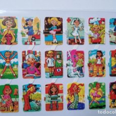 Collectionnisme Cartes à collectionner massicotées anciennes: LÁMINA DE CROMOS TROQUELADOS ESPAÑOLES GRÁFICAS LOROÑO BILBAO AÑOS 70. Lote 262955520