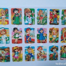 Collectionnisme Cartes à collectionner massicotées anciennes: LÁMINA DE CROMOS TROQUELADOS ESPAÑOLES GRÁFICAS LOROÑO AÑOS 70 S. Lote 264084795