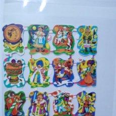 Collectionnisme Cartes à collectionner massicotées anciennes: LÁMINA DE CROMOS TROQUELADOS ESPAÑOLES GRÁFICAS LOROÑO BILBAO AÑOS 70. Lote 264084845