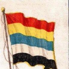 Coleccionismo Cromos troquelados antiguos: ANTIGUO CROMO CIGARRILLOS NEBO TIPO TELA BANDERA CHINA. Lote 268929719