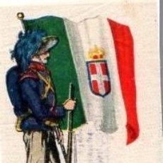 Coleccionismo Cromos troquelados antiguos: ANTIGUO CROMO TIPO TELA BANDERA ITALIA. Lote 268930569