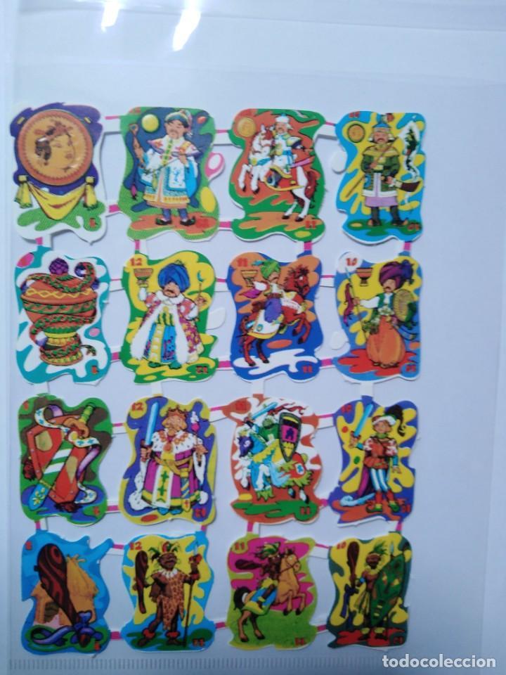 LÁMINA DE CROMOS TROQUELADOS ESPAÑOLES GRÁFICAS LOROÑO BILBAO AÑOS 70 (Coleccionismo - Cromos y Álbumes - Cromos Troquelados)