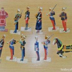 Coleccionismo Cromos troquelados antiguos: 12 CROMO TROQUELADO SOLDADO CURA Y CABALLO 10 CM . PROCESION CORPUS ?. Lote 273913348