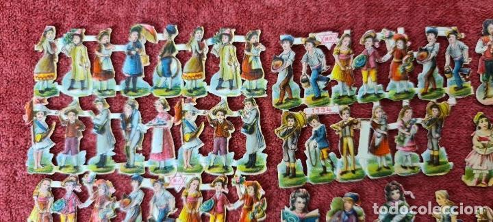 Coleccionismo Cromos troquelados antiguos: COLECCION DE 101 CROMOS TROQUELADOS. PERSONAJES EN MINIATURA. SIGLO XIX. - Foto 6 - 277573548