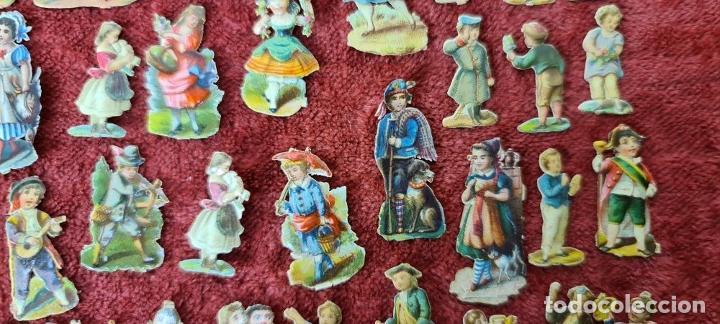 Coleccionismo Cromos troquelados antiguos: COLECCION DE 101 CROMOS TROQUELADOS. PERSONAJES EN MINIATURA. SIGLO XIX. - Foto 7 - 277573548