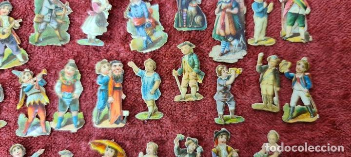 Coleccionismo Cromos troquelados antiguos: COLECCION DE 101 CROMOS TROQUELADOS. PERSONAJES EN MINIATURA. SIGLO XIX. - Foto 10 - 277573548