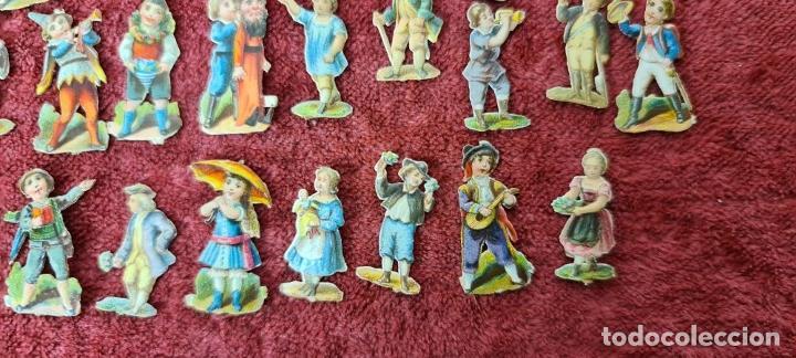 Coleccionismo Cromos troquelados antiguos: COLECCION DE 101 CROMOS TROQUELADOS. PERSONAJES EN MINIATURA. SIGLO XIX. - Foto 11 - 277573548