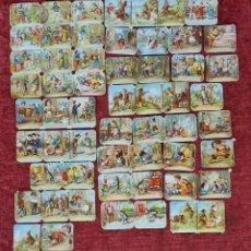 Coleccionismo Cromos troquelados antiguos: COLECCION DE 57 CROMOS TROQUELADOS DE PICAR. LITOGRAFIA. SIGLO XX.. Lote 277576493