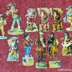 Coleccionismo Cromos troquelados antiguos: COLECCION DE 11 CROMOS TROQUELADOS. CHOCOLATES AMATLLER. SIGLO XIX-XX.. Lote 277584203