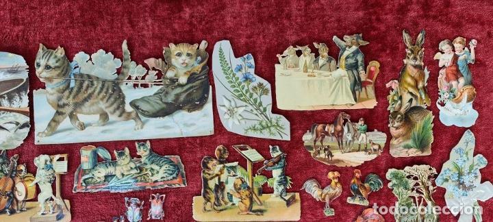 Coleccionismo Cromos troquelados antiguos: COLECCION DE 117 CROMOS TROQUELADOS. CHOCOLATES JUNCOSA. SIGLO XIX-XX. - Foto 9 - 277587918
