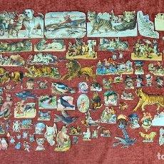 Coleccionismo Cromos troquelados antiguos: COLECCION DE 117 CROMOS TROQUELADOS. CHOCOLATES JUNCOSA. SIGLO XIX-XX.. Lote 277587918