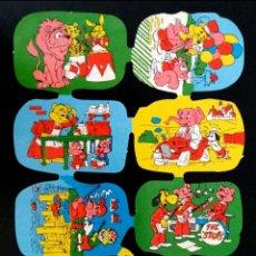 Coleccionismo Cromos troquelados antiguos: LÁMINA CROMOS TROQUELADOS ALEMANES KRUGER DE PICAR AÑOS 60/70 NUEVA DIBUJOS INFANTILES. Lote 277656748