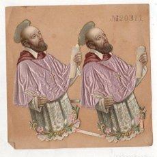 Coleccionismo Cromos troquelados antiguos: LOTE DE 2 CROMOS RELIGIOSOS SAN IGNACIO DE LOYOLA. Lote 278919508