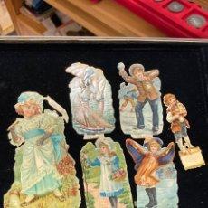 Coleccionismo Cromos troquelados antiguos: LOTE DE CROMOS TROQUELADOS, SIGLO XIX. Lote 279520798