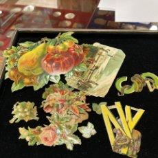 Coleccionismo Cromos troquelados antiguos: LOTE DE CROMOS TROQUELADOS, SIGLO XIX. Lote 279523848